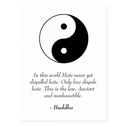 Citations célèbres de Bouddha - amour et haine Cartes Postales ...