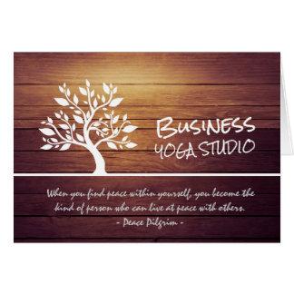 Citations chiques élégantes de méditation de yoga cartes de vœux