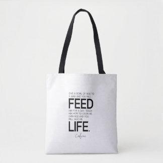CITATIONS : Confucius : Le bol de riz, cultivent Sac