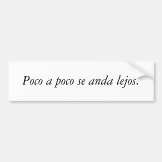 Citations d'Espagnol Autocollant Pour Voiture