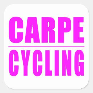Citations drôles de cyclistes de fille : Recyclage Sticker Carré