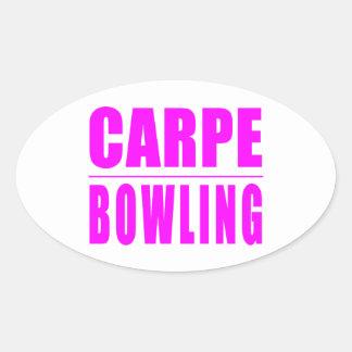 Citations drôles de lanceurs de fille : Bowling de Sticker Ovale