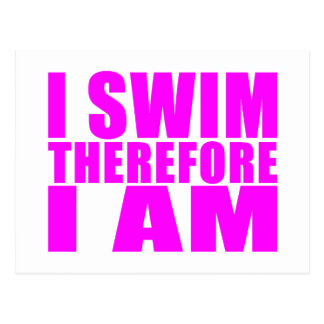 Citations drôles de nageuses de fille : Je me nage Cartes Postales