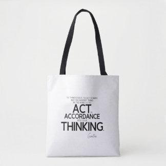 CITATIONS : Goethe : Pour agir est dure Sac