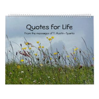 Citations pour l'option A de calendrier de la vie