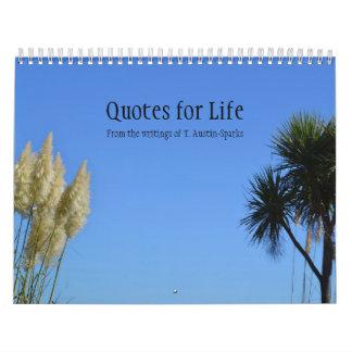 Citations pour l'option B de calendrier de la vie