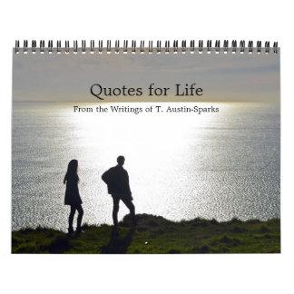 Citations pour l'option C de calendrier de la vie