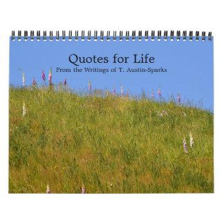 Citations pour l'option D de calendrier de la vie