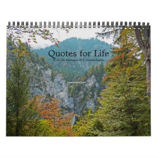 Citations pour l'option F de calendrier de la vie