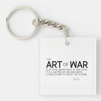 CITATIONS : Sun Tzu : Art de guerre, vie et mort Porte-clé Carré En Acrylique Une Face