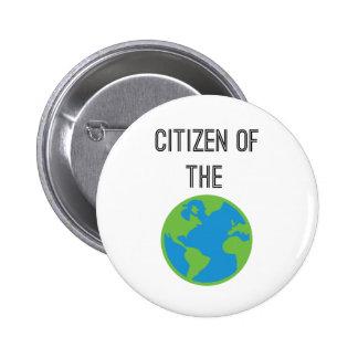 Citoyen du bouton du monde badges