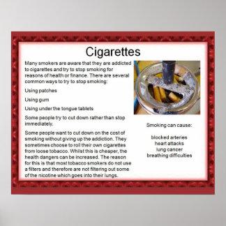 Citoyenneté, cigarettes de drogues affiches