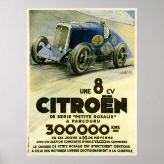 Citroen place une affiche de disque de distance en poster