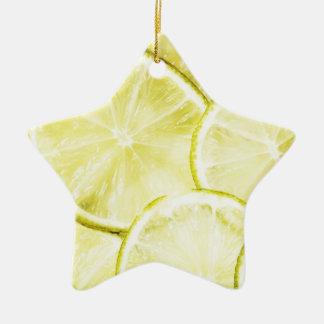 Citron 2 ornement étoile en céramique