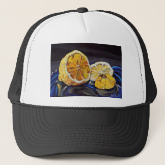 Citron au goût âpre juteux demi casquette