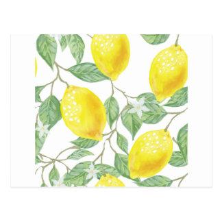 Citron d'aquarelle carte postale