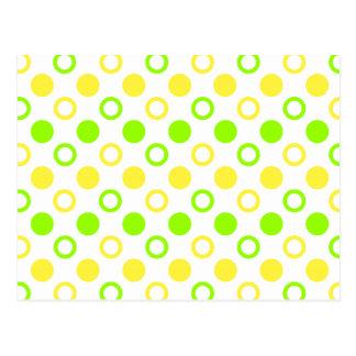 Citron et anneaux et pois de chaux carte postale