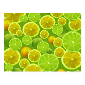 Citron et chaux carte postale