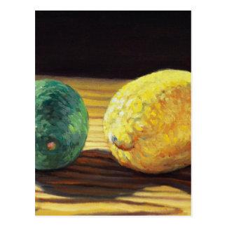 Citron et chaux de pays carte postale