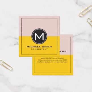 Citron et tempête de poussière modernes élégants carte de visite carré