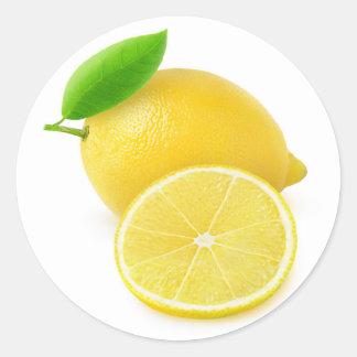 Citron frais sticker rond
