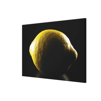 Citron, fruit, arrière - plan noir toiles