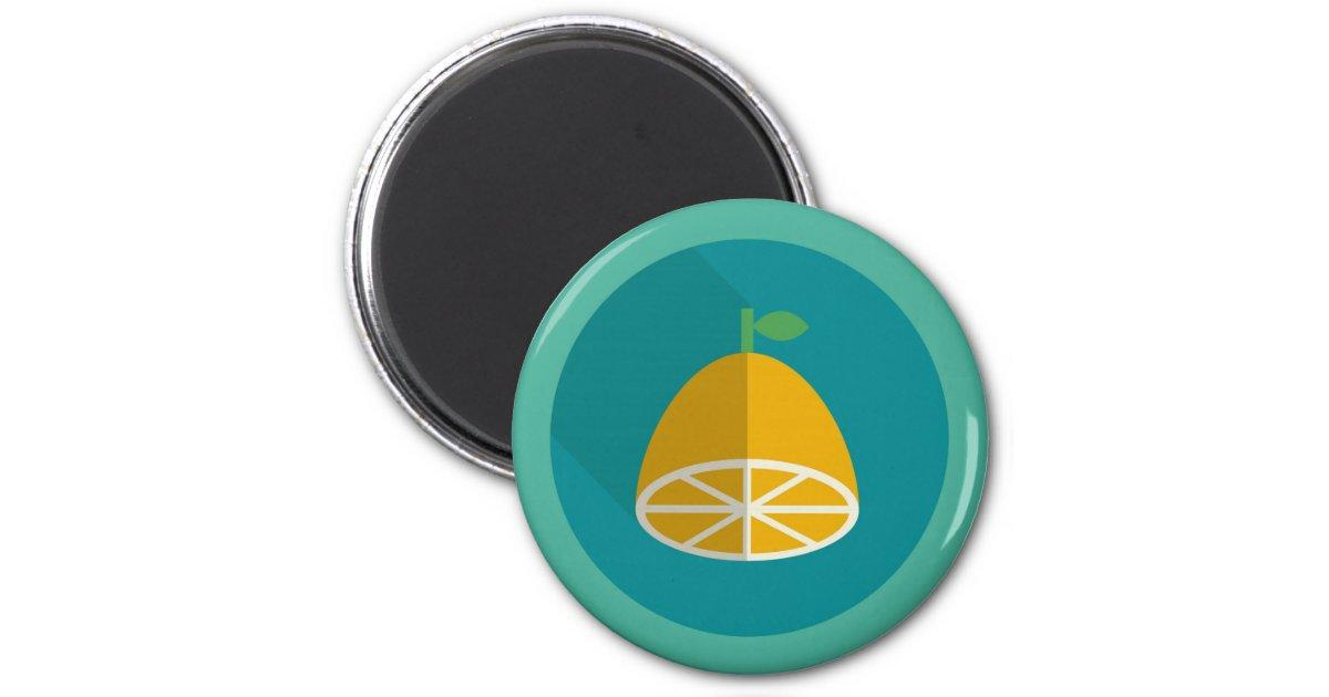 Citron Squeezy Magnet Rond 8 Cm Zazzle