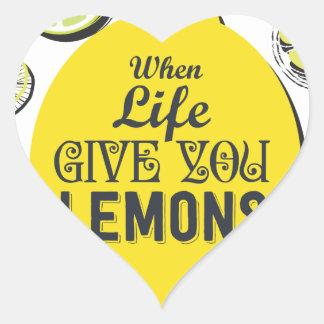 Citron Sticker Cœur