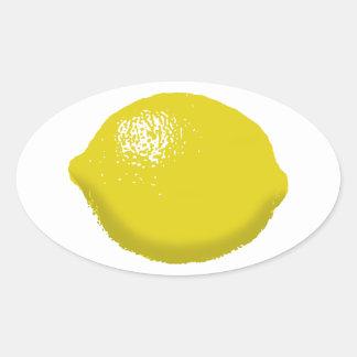 Citron : sticker ovale