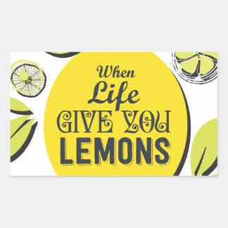 Citron Sticker Rectangulaire