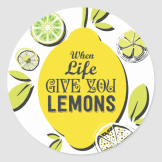 Citron Sticker Rond