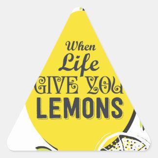 Citron Sticker Triangulaire