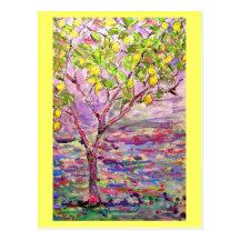 citronnier carte postale