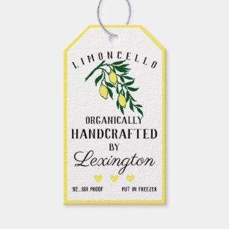 Citrons de Limoncello sur une étiquette | de coup