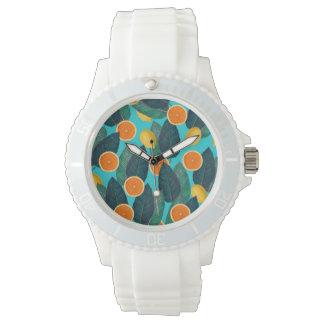 citrons et oranges turquoises montres
