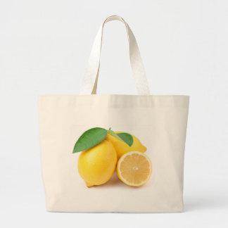 Citrons jaunes lumineux et frais grand sac