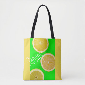 Citrons jaunes verts fluorescents au néon sac