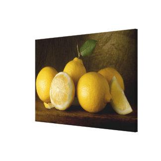 citrons sur le bois toiles
