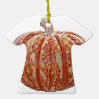 Citrouille coloré multi ornement t-shirt en céramique