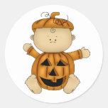 Citrouille de bébé de Halloween Autocollants