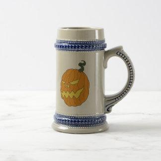 Citrouille de Halloween buvant Stein Chope À Bière