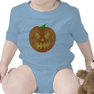 Citrouille de Halloween dans bleu-clair Body Pour Bébé