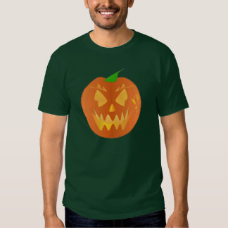 Citrouille de Halloween dans Forest Green T-shirts
