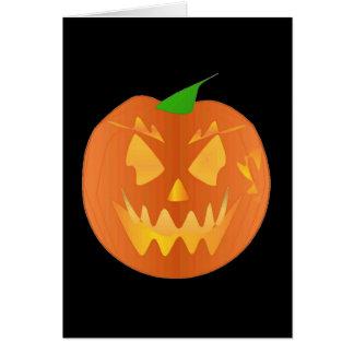 Citrouille de Halloween dans le noir