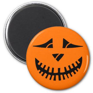 Citrouille de Halloween Magnet Rond 8 Cm