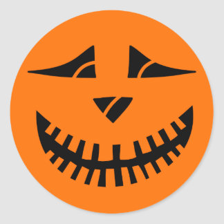 Citrouille de Halloween Sticker Rond