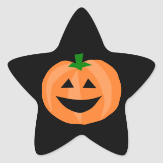 Citrouille de sourire sticker étoile