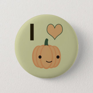 Citrouille du coeur I Badge