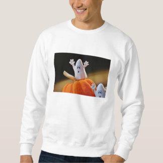 Citrouille et fantôme - fantôme drôle - citrouille sweatshirt