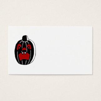 Citrouille Halloween de Jack-o'-lantern Cartes De Visite
